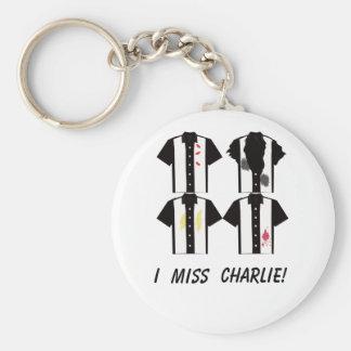 I miss Charlie keychain - 4 shirts