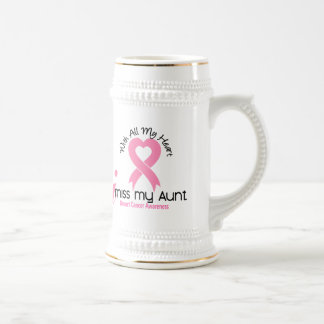 I Miss My Aunt Breast Cancer Beer Stein