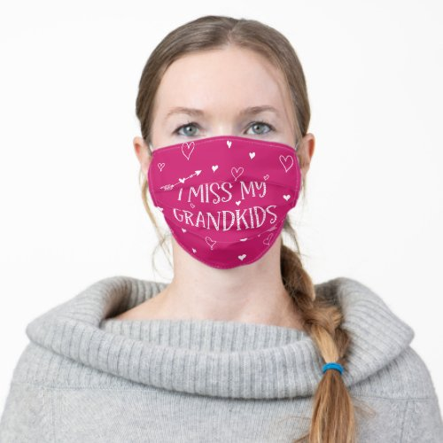 I Miss My Grandkids _ Any Colors Adult Cloth Face Mask