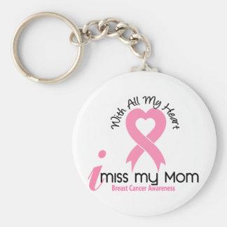 I Miss My Mom Breast Cancer Basic Round Button Keychain