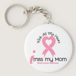 I Miss My Mom Breast Cancer Keychain