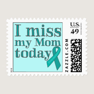 I Miss My Mom Today (Ovarian Cancer) Postage