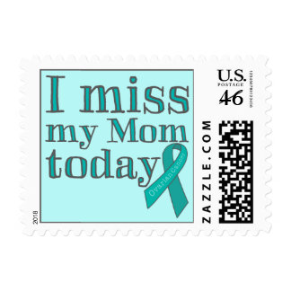 I Miss My Mom Today Ovarian Cancer Postage
