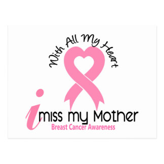 I Miss My Mother Breast Cancer Postcard