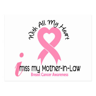 I Miss My Mother-In-Law Breast Cancer Post Cards