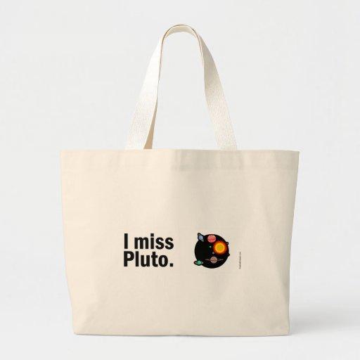 I miss Pluto. Canvas Bag