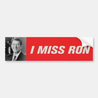 I Miss Ron Bumper Sticker