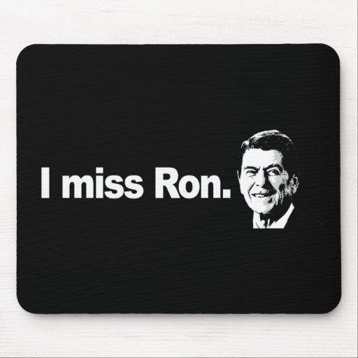 I MISS RON Bumpersticker Mouse Pads