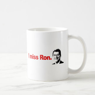 I MISS RON CLASSIC WHITE COFFEE MUG