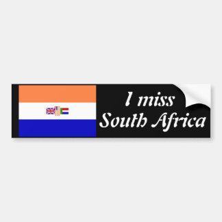 I miss South Africa Car Bumper Sticker