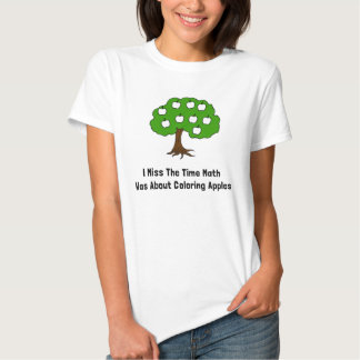 I Miss The Time Math Was About Coloring Apples T-shirts