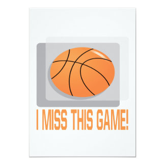 I Miss This Game 5x7 Paper Invitation Card