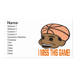 I Miss This Game Business Card