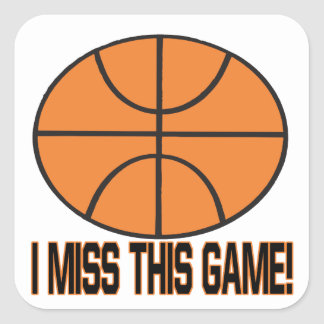 I Miss This Game Square Sticker