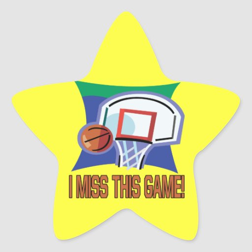 I Miss This Game Star Sticker