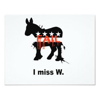 """I miss W 4.25"""" X 5.5"""" Invitation Card"""