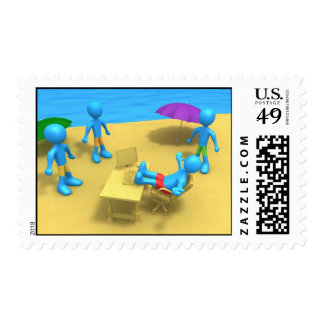 I miss work postage stamps