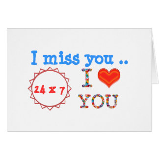 I miss YOU - A gift of expression n impact of love Greeting Cards
