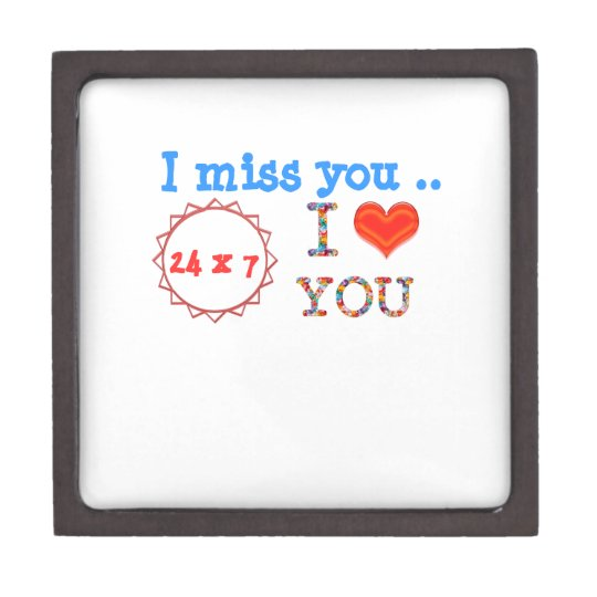 I miss YOU - A gift of expression n impact of love Jewelry Box