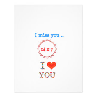 I miss YOU - A gift of expression n impact of love Letterhead