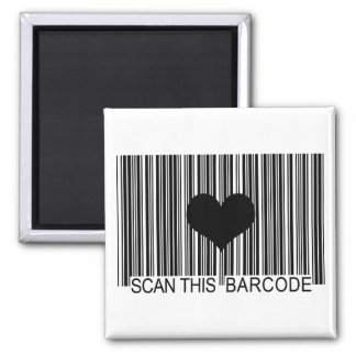 I MISS YOU BARCODE 2 INCH SQUARE MAGNET