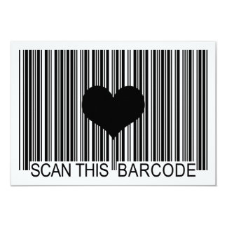 I MISS YOU BARCODE CARD