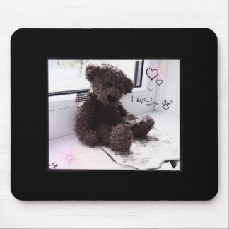 I miss you (bear cub) mouse pads