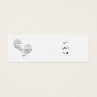 I Miss You - Broken Separated Heart Mini Business Card