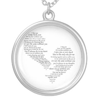 I Miss You - Broken Separated Heart Necklaces