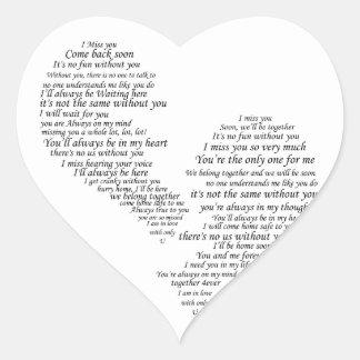 I Miss You - Broken Separated Heart Heart Sticker