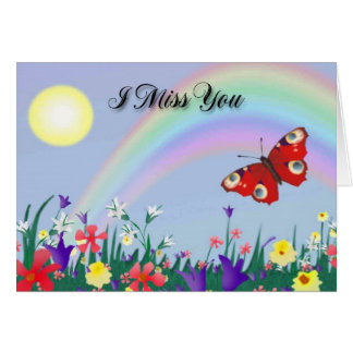 I Miss You (Butterfly) #2 Card