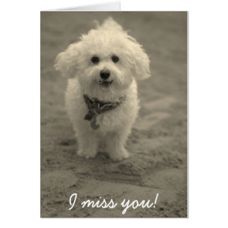 I miss you! card