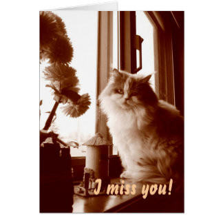 I miss you! greeting card