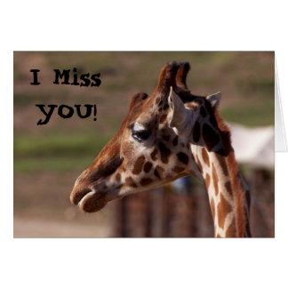 I Miss YOU! Card