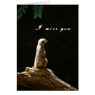 I miss you - card