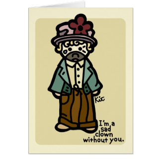 I miss you. card