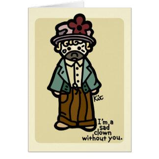 I miss you. card