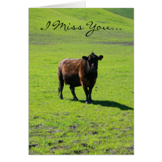 I Miss you cow greeting card