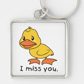 I Miss You Crying Yellow Duckling Duck Mug Hat Key Chain