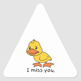 I Miss You Crying Yellow Duckling Duck Mug Hat Stickers