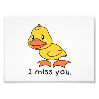 I Miss You Crying Yellow Duckling Duck Mug Wrapper Photograph