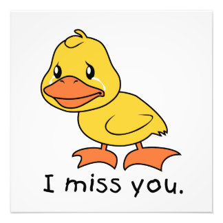 I Miss You Crying Yellow Duckling Duck Mug Wrapper Photo Art