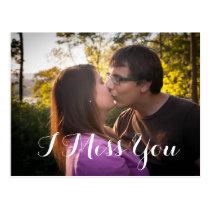 I Miss You Custom Photo romantic Postcard