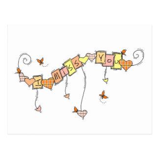 I Miss You Doodles Postcard