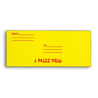 I MISS YOU ENVELOPES