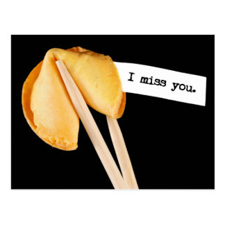 I Miss You Fortune Cookie Postcard