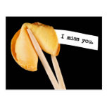 I Miss You Fortune Cookie Postcards