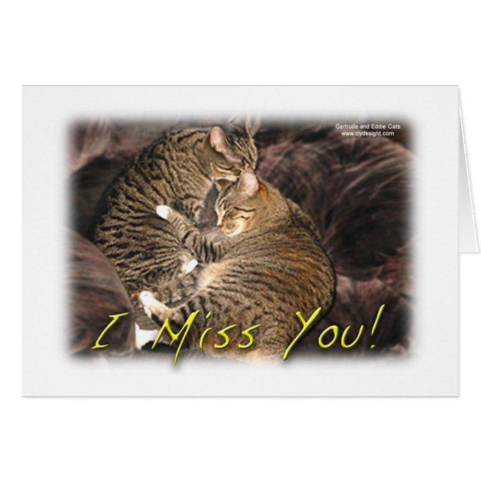 """I Miss You"" Friendship card"