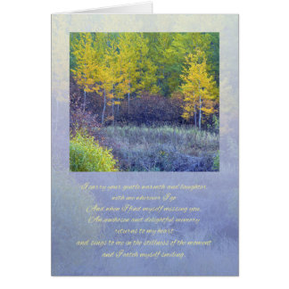 I Miss You Greeting Card / Poetry Card
