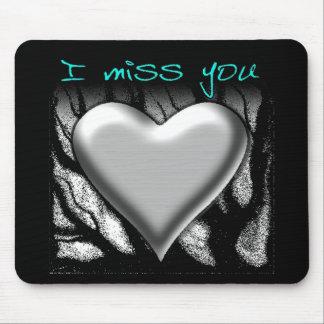 I Miss You Heart Mousepad